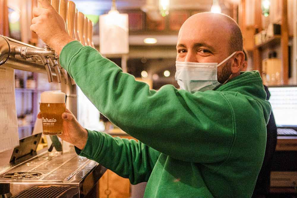 Bartender at Catraio in Porto
