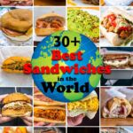 Pinterest image:20 images of sandwiches with caption reading '30+ Best Sandwiches in the World'