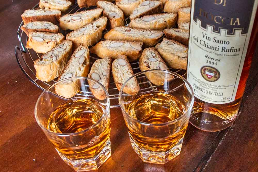 Cantuccini with Vin Santo in Florence