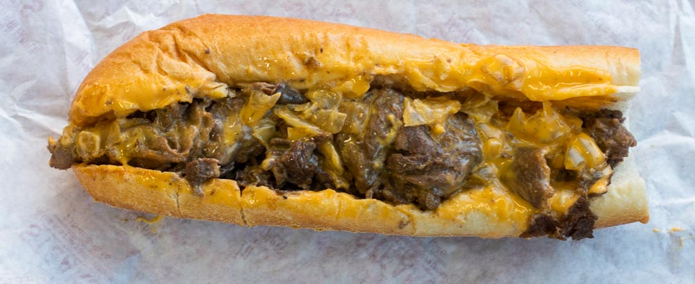 Cheesesteak at Pats Steaks in Philadelphia