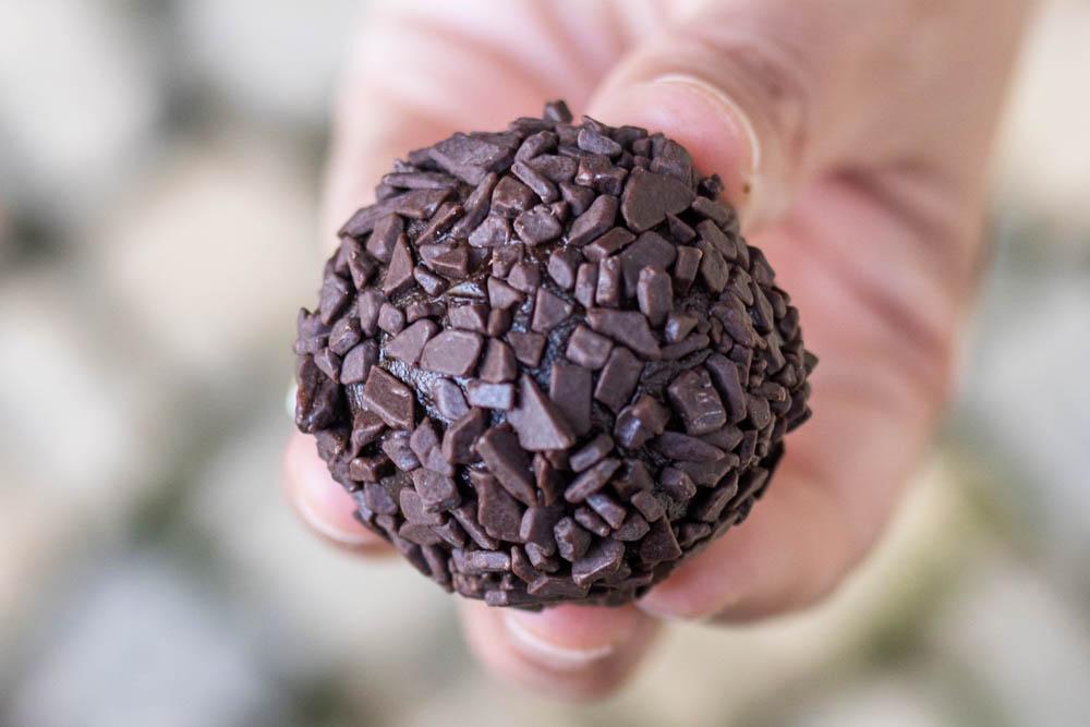 Chocolate Brigadeiro in Hand