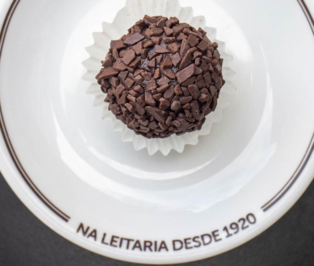 Chocolate Brigadeiro on Plate