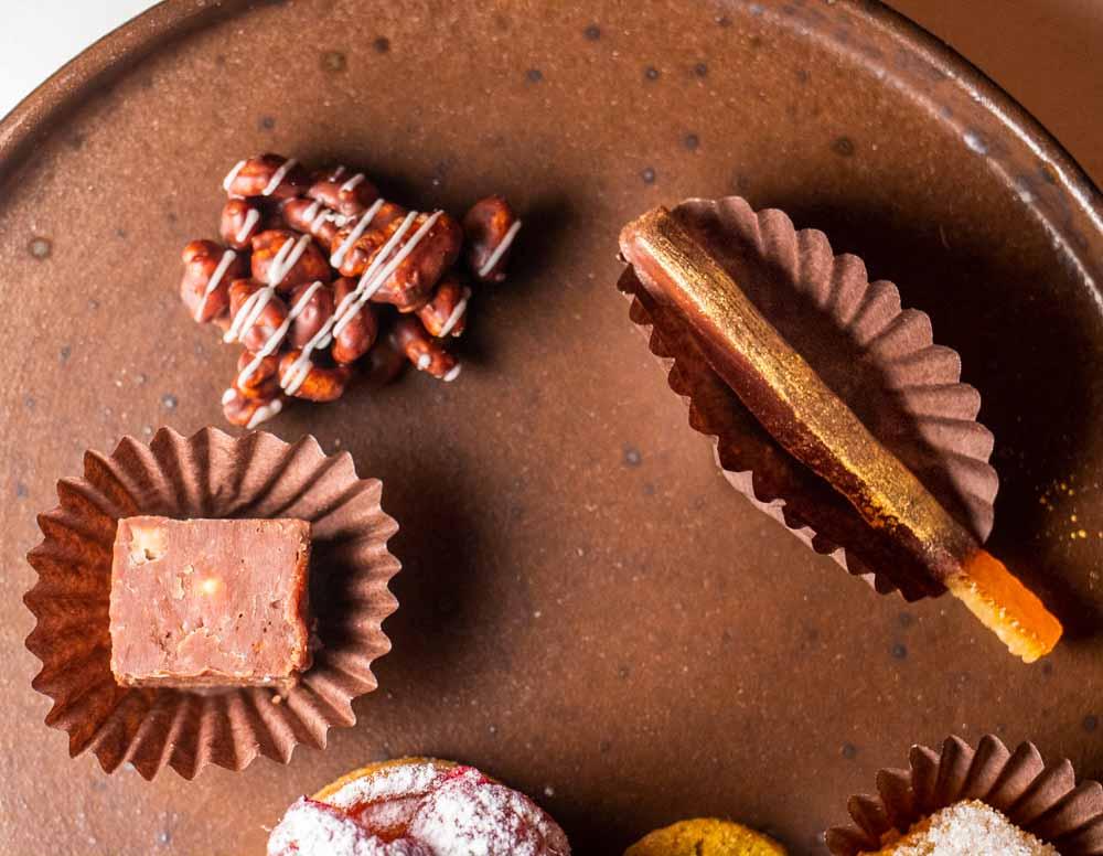 Chocolates at Casa de Cha da Boa Nova in Porto