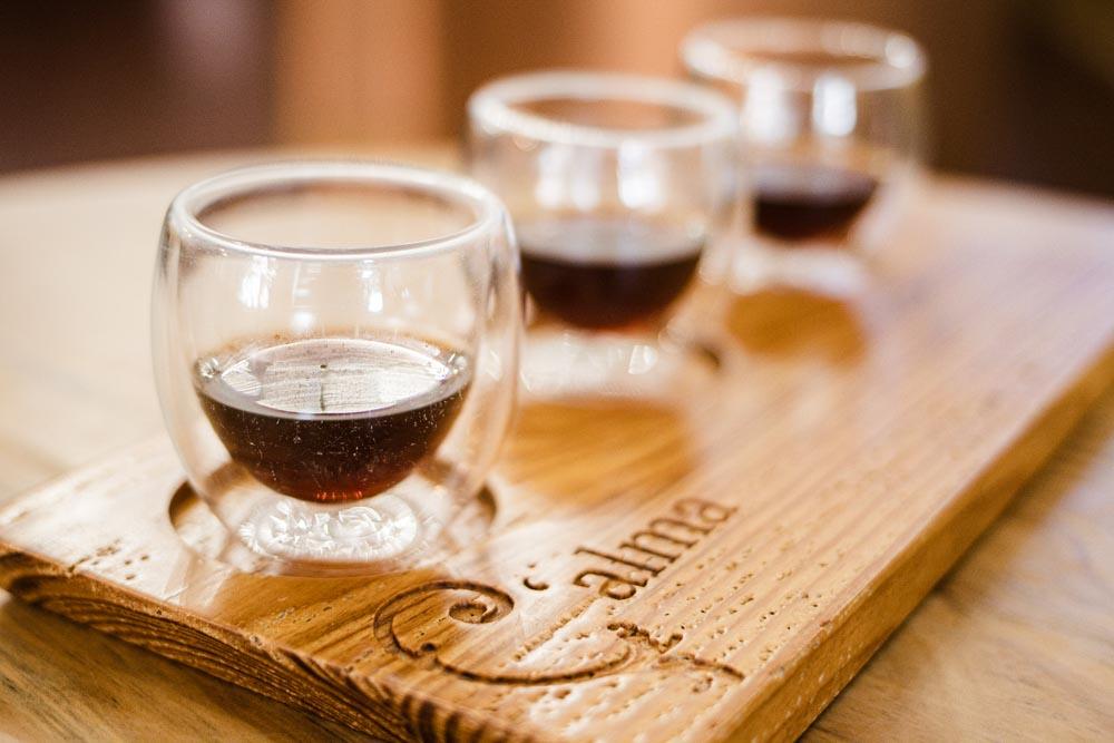 Coffee Flight at Calma in Porto