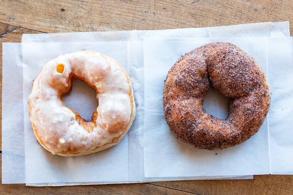 Cream Cheese Ginger and Cocoa Rub at Hole Doughnuts in Asheville