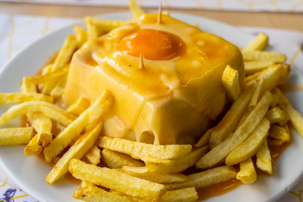 Francesinha at Cafe Santiago in Porto