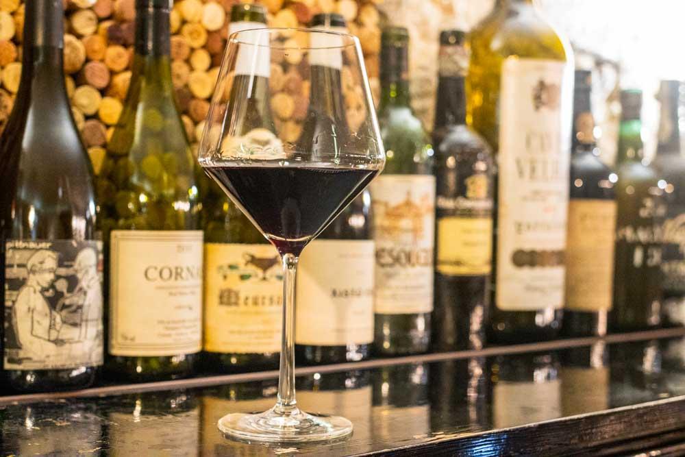 Glass of Wine at Prova in Porto