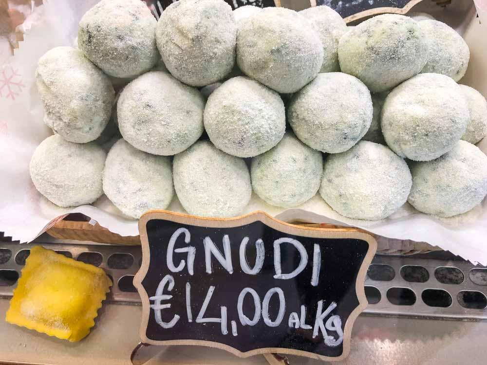 Gnudi at Sant Ambrogio Market in Florence