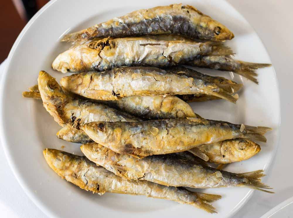 Grilled Sardines at O Rapido in Porto
