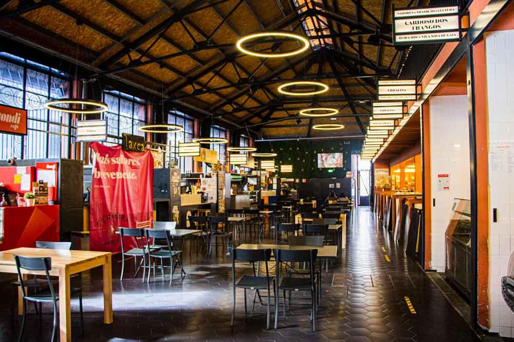 Inside Mercado Beira-Rio Building in Porto