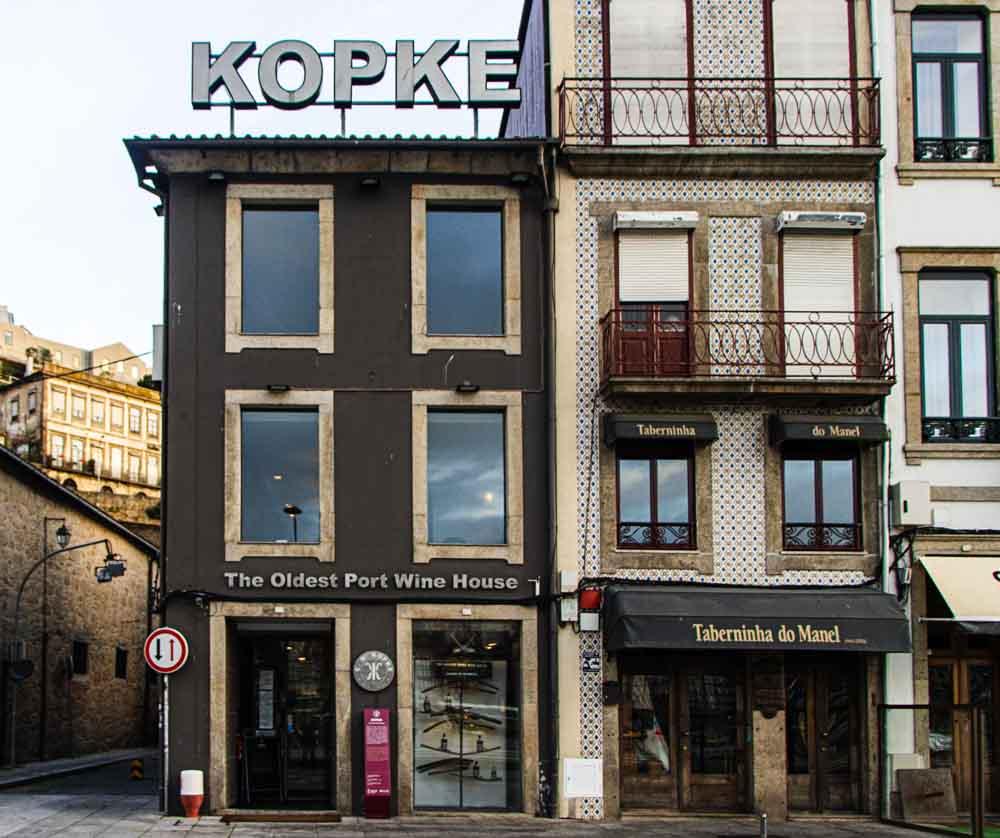 Kopke Wine House in Porto