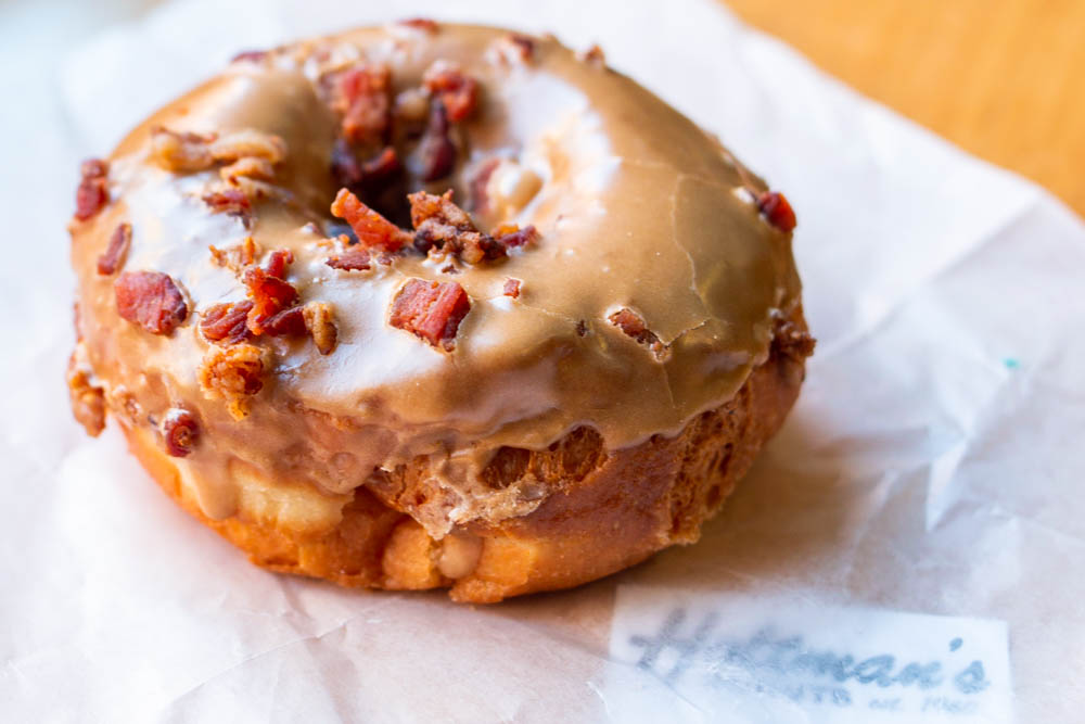 Maple Bacon Donut at Holtmans in Cincinnati