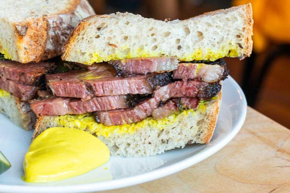 Pastrami Sandwich at The Grange Community Kitchen in Buffalo