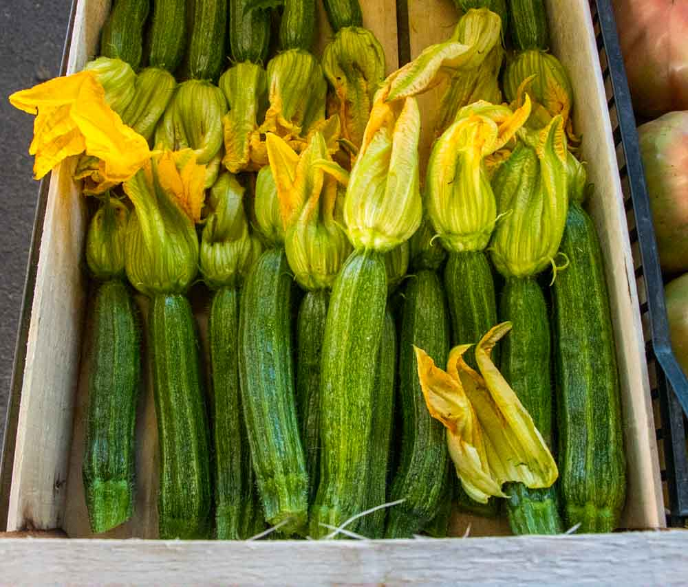 Squash Blossoms at Sant Ambrogio Market in Florence