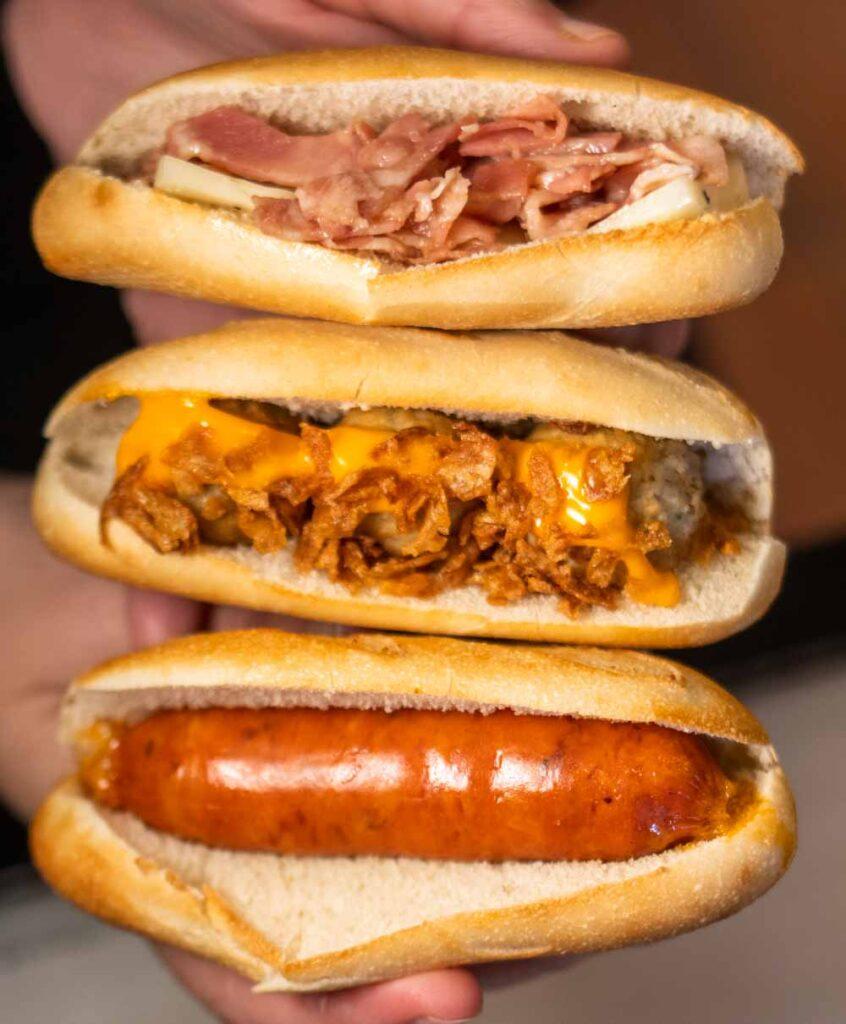 Three Montadito Sandwiches in Lisbon