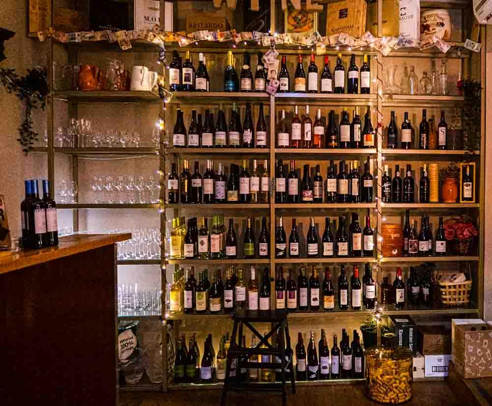 Wine Bottles at Capela Incomum in Porto