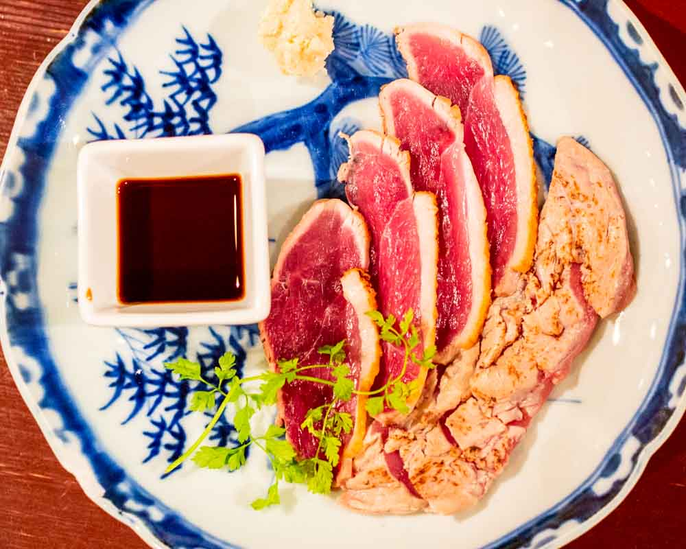 Duck Tataki at Beer Belly in Osaka