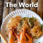 """Pinterest image: image of Thai Food with caption reading """"Best Foodie Cities in the World"""""""