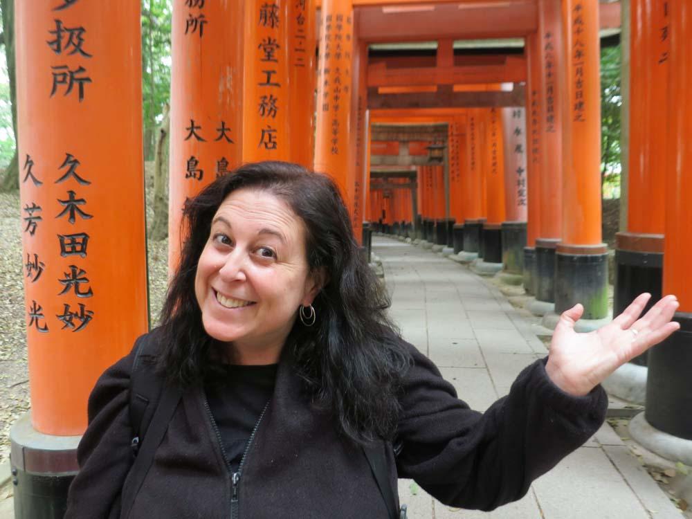 Fushimi Inari Shrine Selfie in Kyoto