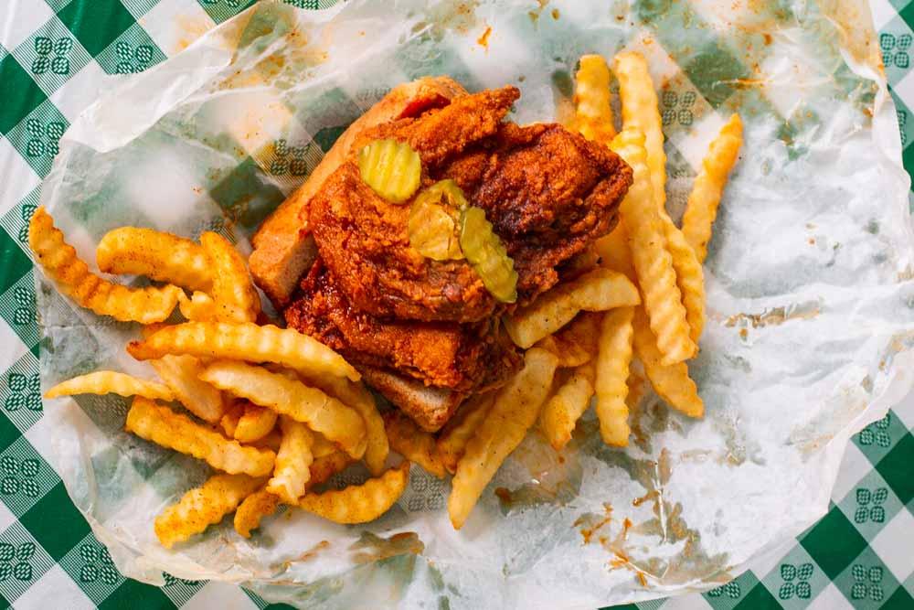 Hot Chicken at Princes in Nashville