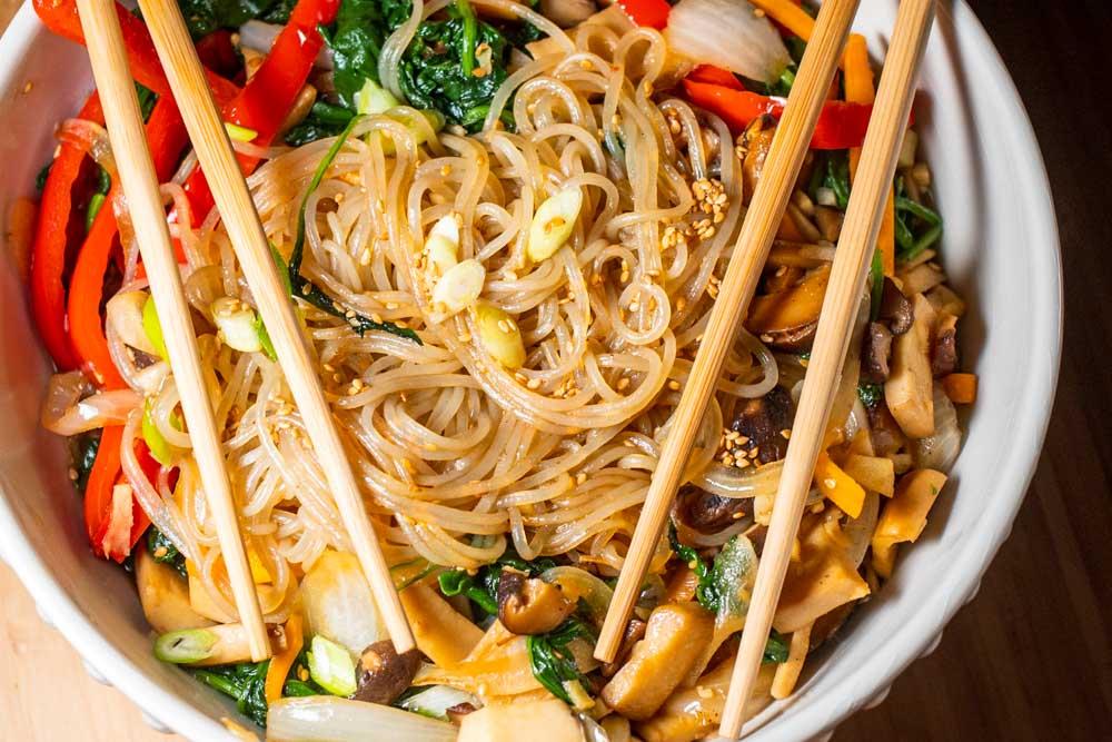 Japchae Noodle Dish