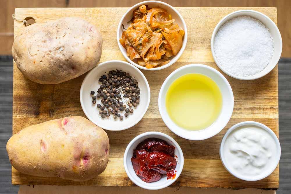 Easy Kimchi Latkes Recipe