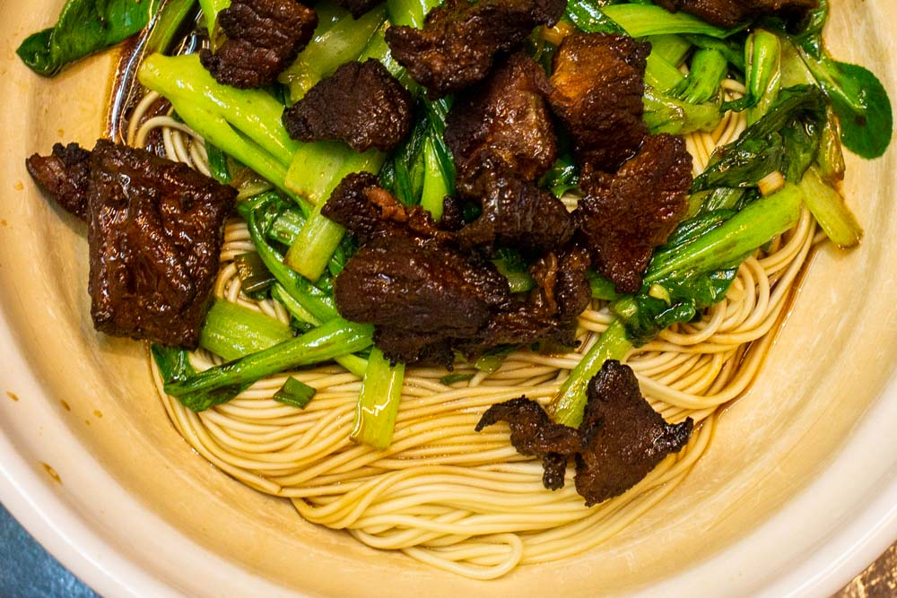 Noodle Dish at Cui Shan Noodle Restaurant in Shanghai