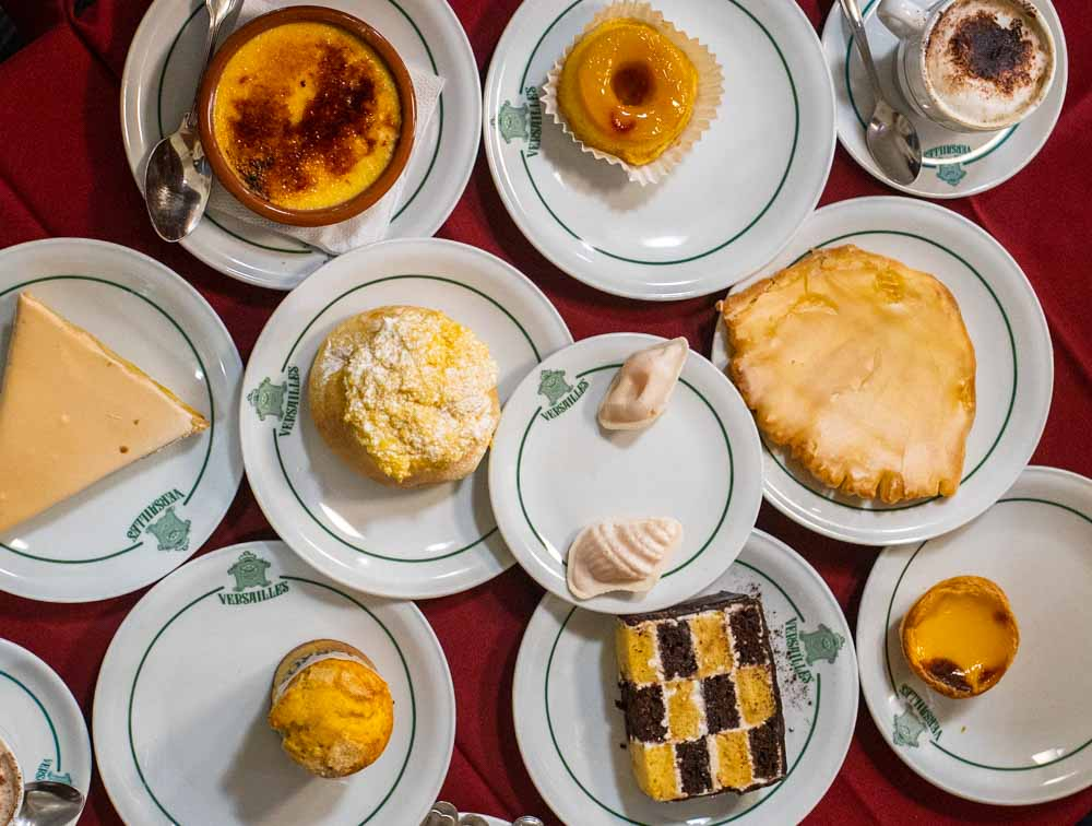 Portuguese Desserts at Versailles in Lisbon