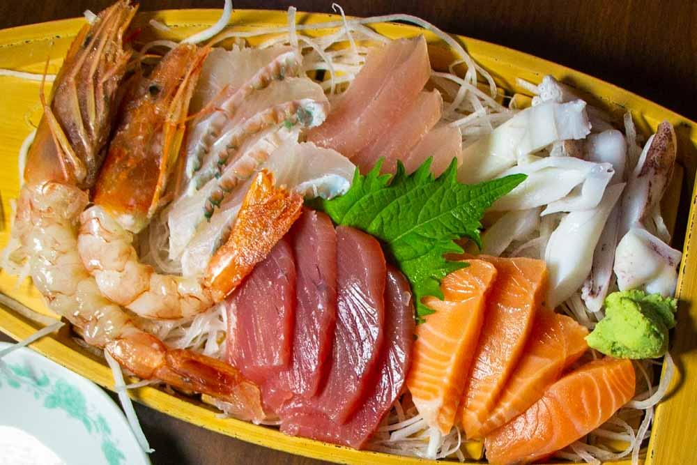 Sashimi in Naha Japan