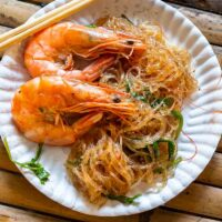 Shrimp and Noodles at Khlong Lad Mayom Floating Market