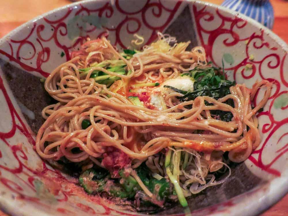 Soba Noodles in Tokyo Japan