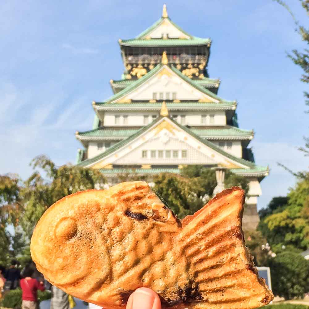 Taiyaki at the Osaka Castle