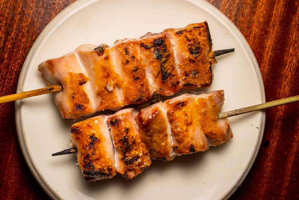 Two Yakitori Skewers at Le Rigmarole in Paris