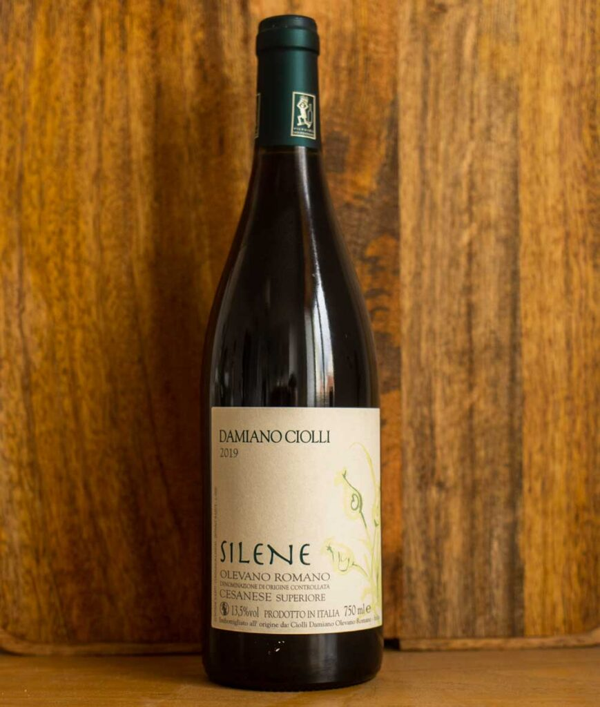 Bottle of Silene Cesanese from Lazio