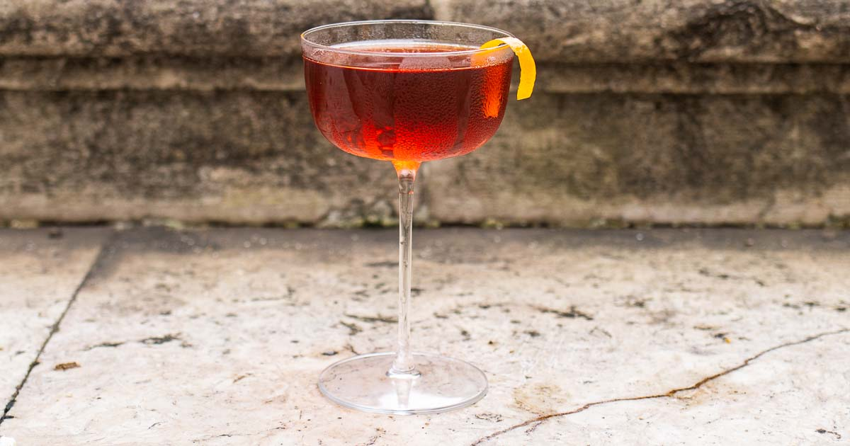 Boulevardier Cocktail | A Negroni for Bourbon Fans