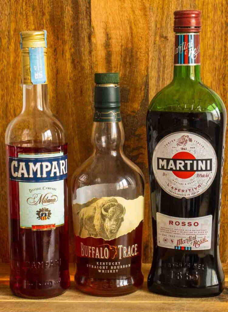 Boulevardier Liquor Bottles