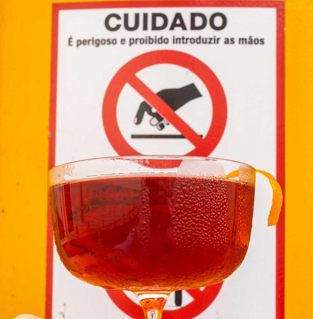 Boulevardier by Cuidado Sign
