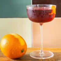 Boulevardier with Peeled Orange