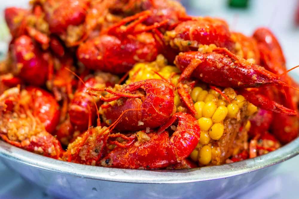 Cajun Crawfish at Crawfish Noodles in Houston