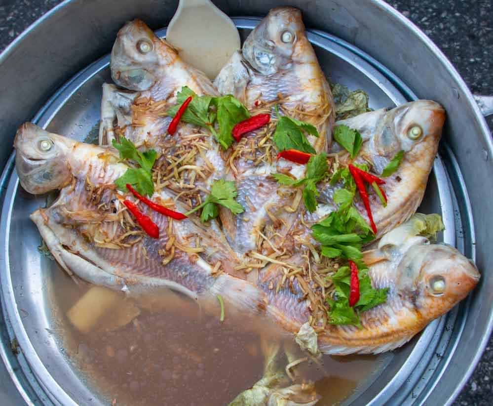 Fish at Wararot Market in Thailand