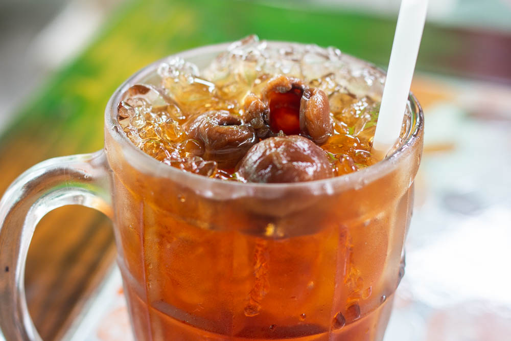 Longan Juice at Khao Soy Khun Yah in Chiang Mai
