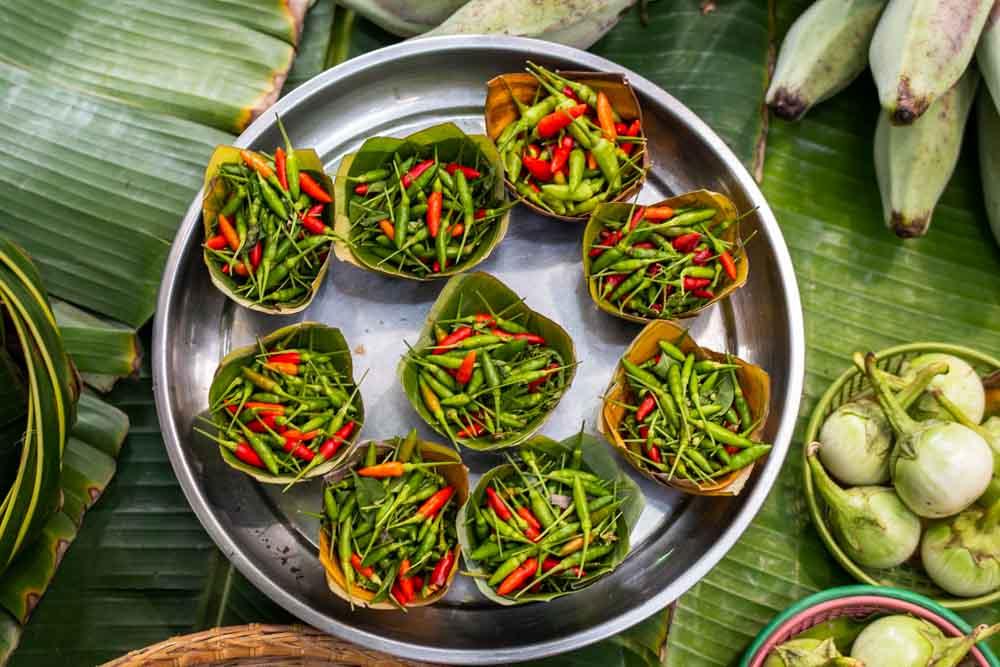 Peppers at Khlong Lad Mayom Floating Market in Bangkok