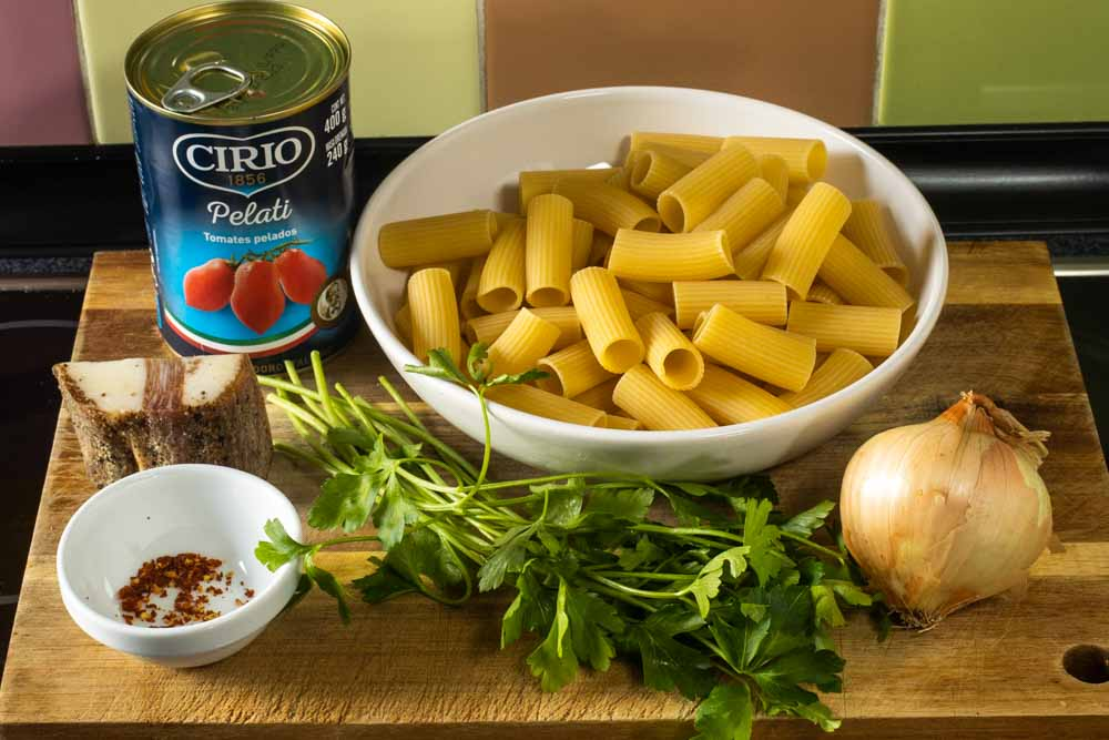 Rigatoni Amatriciana Ingredients