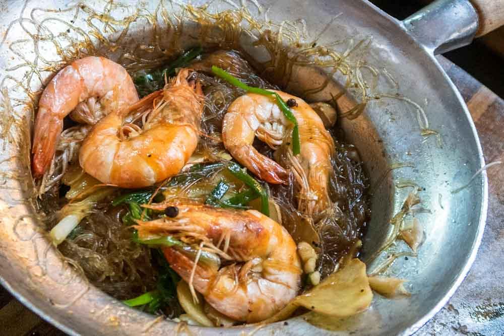 Shrimp at Khlong Lad Mayom Floating Market in Bangkok