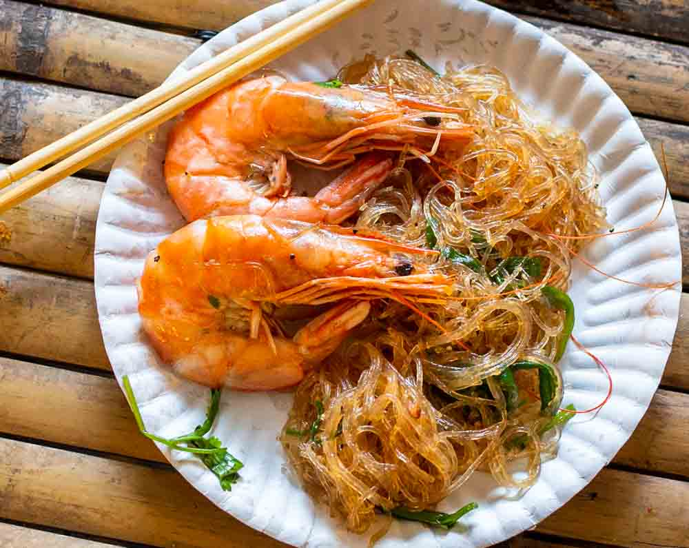 Shrimp with Chopsticks at Khlong Lad Mayom Floating Market