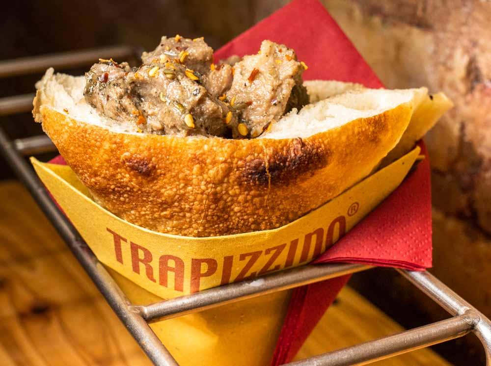 Stewed Pork Trapizzino at Trapizzino in Rome