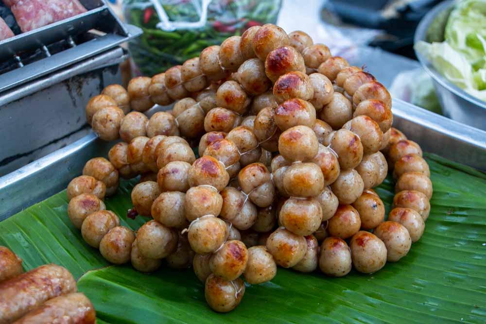 Thai Sausage at Wararot in Chiang Mai