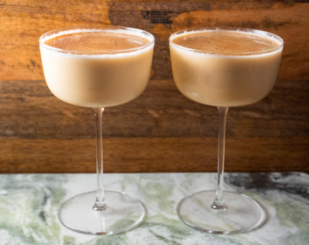 Boozy Bourbon Eggnog for Two