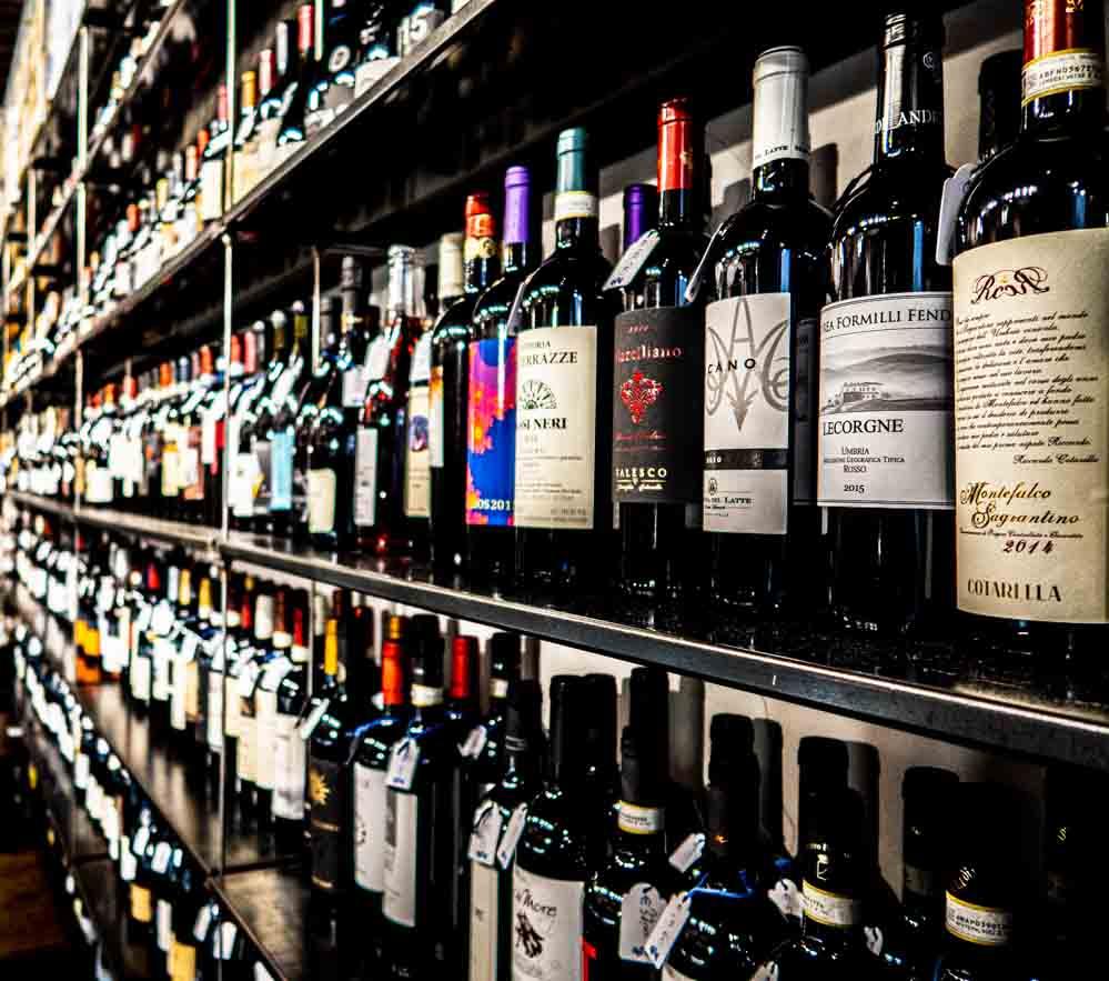 Wine Bottles at Roscioli Salumeria con Cucina in Rome