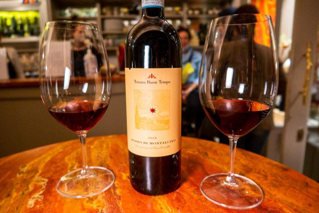 Wine at Enoteca Bellini in Florence